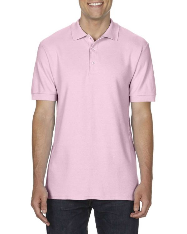 Light Pink Gildan PREMIUM COTTON® ADULT DOUBLE PIQUÉ POLO Galléros pólók