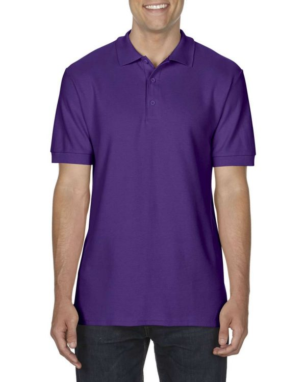 Purple Gildan PREMIUM COTTON® ADULT DOUBLE PIQUÉ POLO Galléros pólók