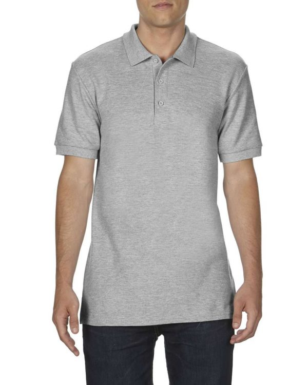 RS Sport Grey Gildan PREMIUM COTTON® ADULT DOUBLE PIQUÉ POLO Galléros pólók