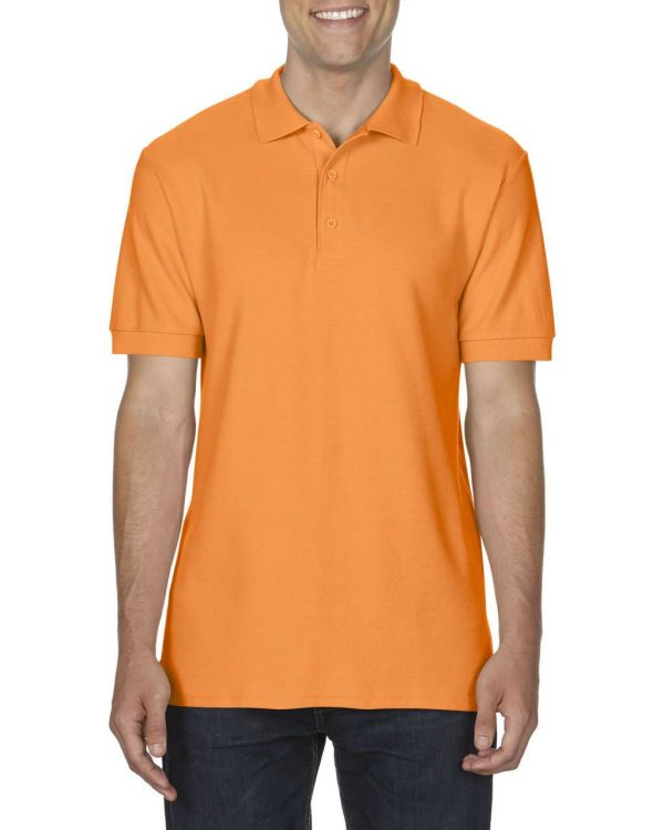 Tangerine Gildan PREMIUM COTTON® ADULT DOUBLE PIQUÉ POLO Galléros pólók