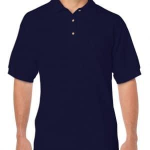 Navy Gildan DRYBLEND® ADULT JERSEY POLO SHIRT Galléros pólók