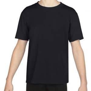 Black Gildan PERFORMANCE® YOUTH T-SHIRT Gyermek ruházat
