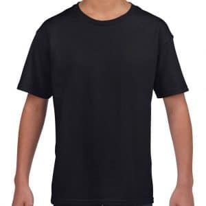 Black Gildan SOFTSTYLE® YOUTH T-SHIRT Gyermek ruházat