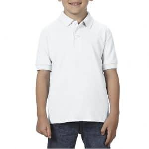 White Gildan DRYBLEND® YOUTH DOUBLE PIQUÉ POLO SHIRT Gyermek ruházat