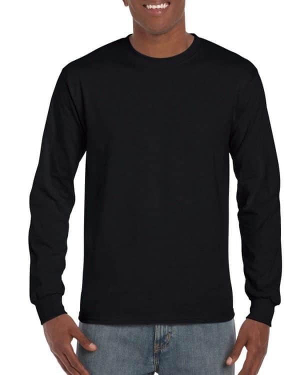 Black Gildan HAMMER ADULT LONG SLEEVE T-SHIRT Pólók/T-Shirt