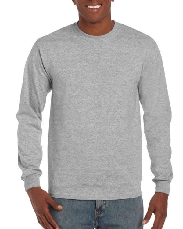 RS Sport Grey Gildan HAMMER ADULT LONG SLEEVE T-SHIRT Pólók/T-Shirt