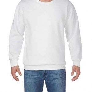 White Gildan HAMMER ADULT CREW SWEATSHIRT Pulóverek