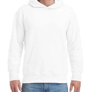 White Gildan HAMMER ADULT HOODED SWEATSHIRT Pulóverek
