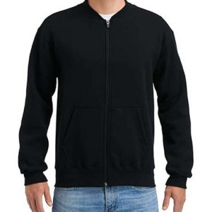 Black Gildan HAMMER ADULT FULL ZIP JACKET Pulóverek
