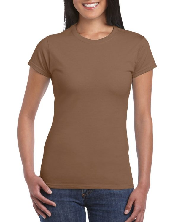 Chestnut Gildan SOFTSTYLE® LADIES' T-SHIRT Pólók/T-Shirt