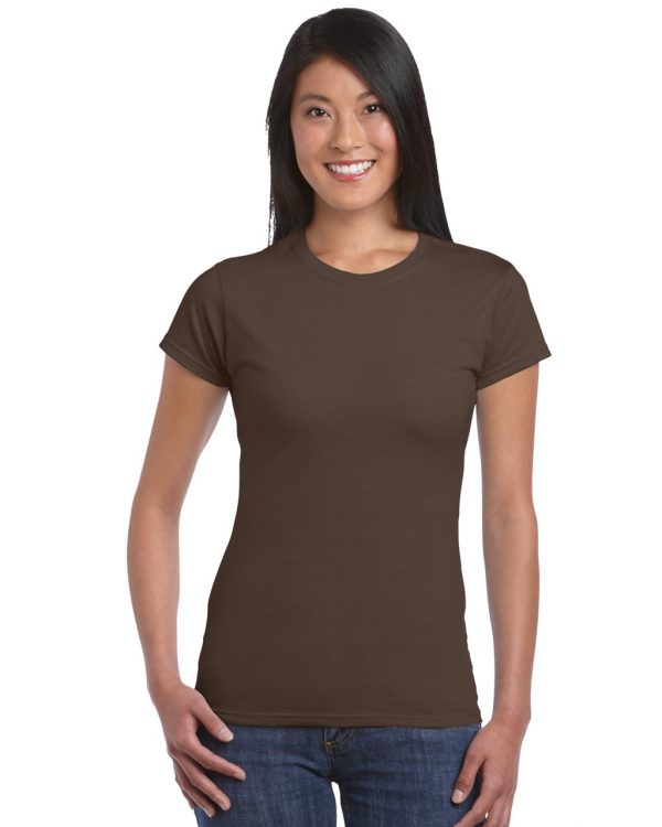 Dark Chocolate Gildan SOFTSTYLE® LADIES' T-SHIRT Pólók/T-Shirt