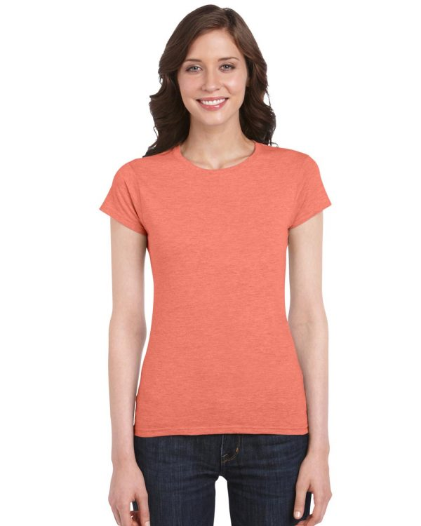 Heather Orange Gildan SOFTSTYLE® LADIES' T-SHIRT Pólók/T-Shirt