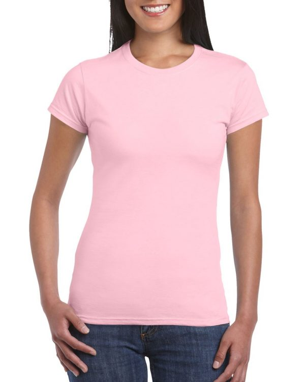 Light Pink Gildan SOFTSTYLE® LADIES' T-SHIRT Pólók/T-Shirt