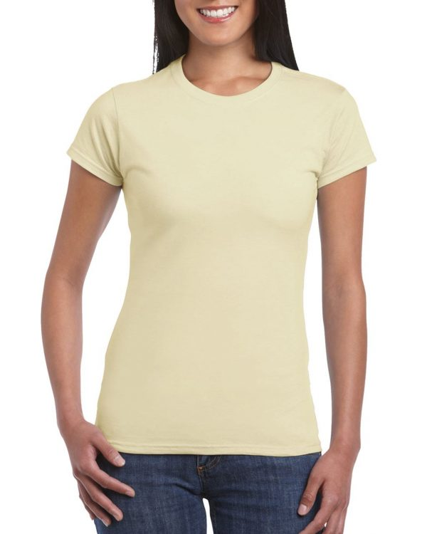 Sand Gildan SOFTSTYLE® LADIES' T-SHIRT Pólók/T-Shirt