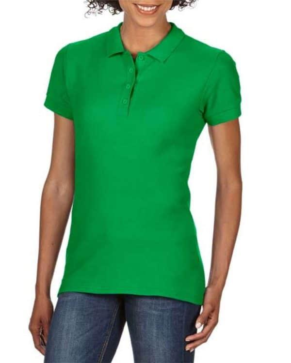 Irish Green Gildan SOFTSTYLE® LADIES' DOUBLE PIQUÉ POLO Galléros pólók
