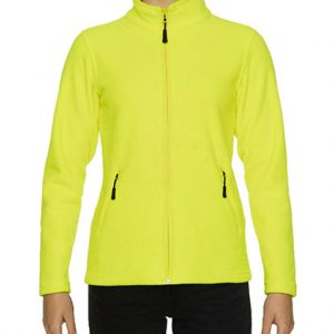 Safety Green Gildan HAMMER LADIES MICRO-FLEECE JACKET Polár & Softshell