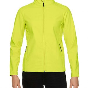 Safety Green Gildan HAMMER LADIES SOFTSHELL JACKET Polár & Softshell