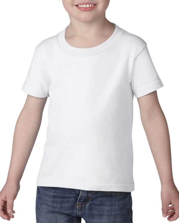 White Gildan HEAVY COTTON™ TODDLER T-SHIRT Gyermek ruházat