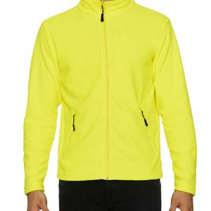 Safety Green Gildan HAMMER UNISEX MICRO-FLEECE JACKET Polár & Softshell