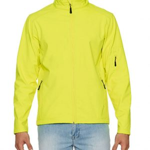 Safety Green Gildan HAMMER UNISEX SOFTSHELL JACKET Polár & Softshell
