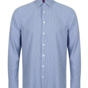 Blue Gingham Henbury MEN'S GINGHAM L/S SHIRT Formaruhák