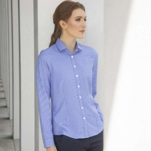 Henbury LADIES' GINGHAM L/S SHIRT Formaruhák