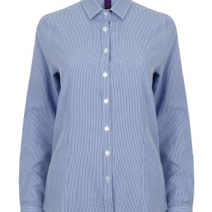 Blue Gingham Henbury LADIES' GINGHAM L/S SHIRT Formaruhák