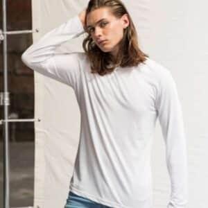 Just Ts LONG SLEEVE TRI-BLEND T Pólók/T-Shirt