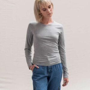 Just Ts LONG SLEEVE GIRLIE TRI-BLEND T Pólók/T-Shirt