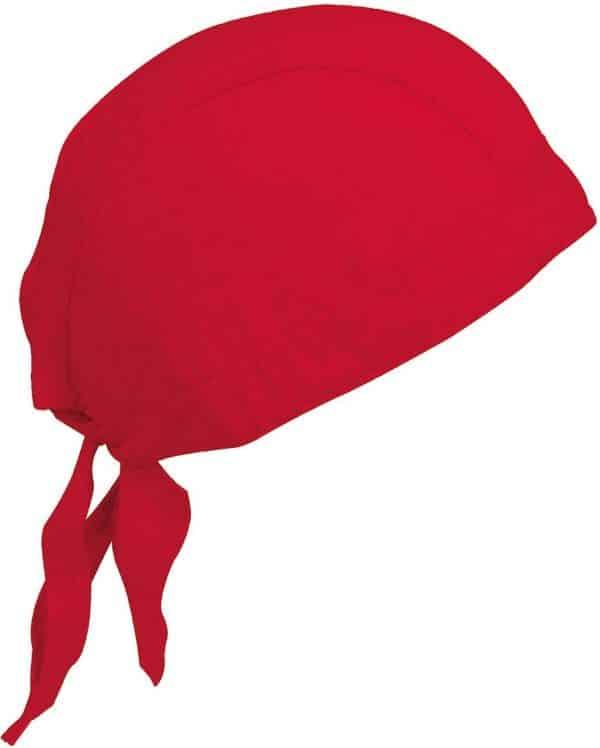 Red K-UP CAP BANDANA - UNISEX BANDANA Sapkák