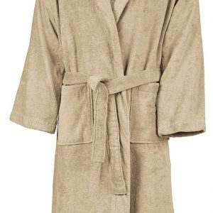 Beige Kariban VELOUR HOODED BATHROBE Törölközõk