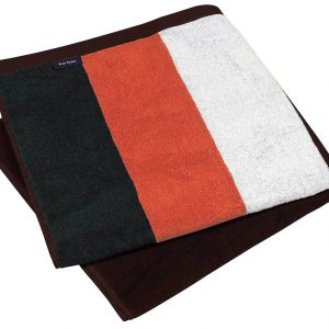 Black/Orange/White/Chocolate Kariban STRIPED BEACH TOWEL Törölközõk