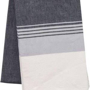 Striped Dark Grey/Tropical Pink Kariban STRIPED FOUTA Törölközõk