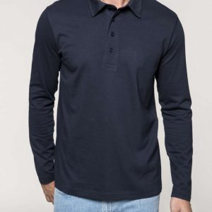 Kariban MEN'S LONG SLEEVE JERSEY POLO SHIRT Galléros pólók