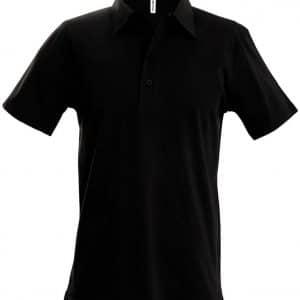 Black Kariban MEN'S JERSEY POLO SHIRT Galléros pólók