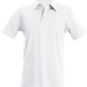 White Kariban MEN'S SHORT-SLEEVED POLO SHIRT Galléros pólók