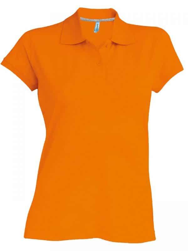 Orange Kariban LADIES' SHORT-SLEEVED POLO SHIRT Galléros pólók