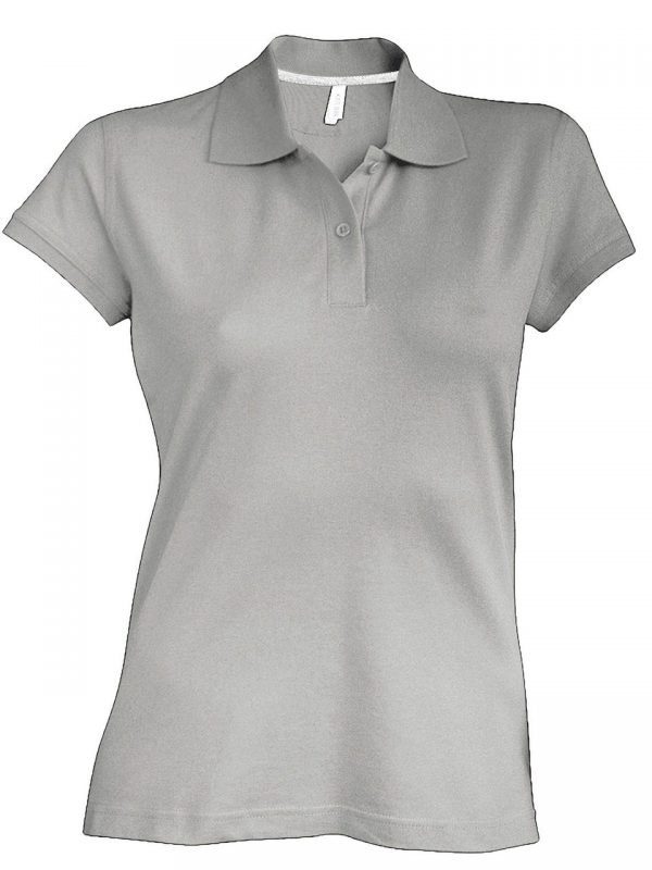 Oxford Grey Kariban LADIES' SHORT-SLEEVED POLO SHIRT Galléros pólók