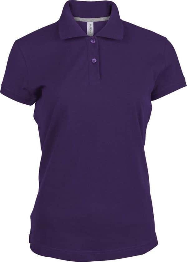 Purple Kariban LADIES' SHORT-SLEEVED POLO SHIRT Galléros pólók