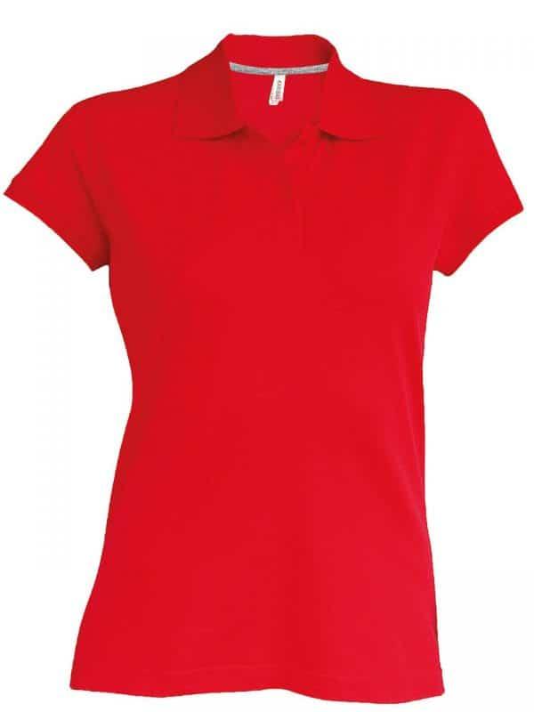 Red Kariban LADIES' SHORT-SLEEVED POLO SHIRT Galléros pólók