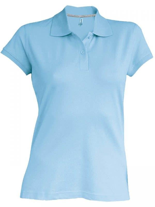 Sky Blue Kariban LADIES' SHORT-SLEEVED POLO SHIRT Galléros pólók