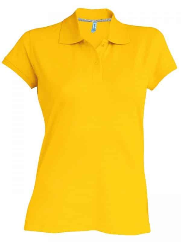 Yellow Kariban LADIES' SHORT-SLEEVED POLO SHIRT Galléros pólók