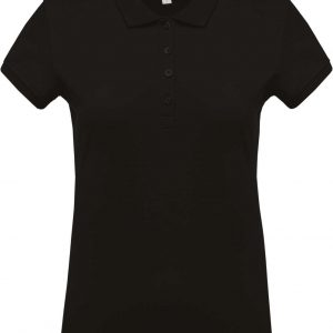 Black Kariban LADIES' SHORT-SLEEVED PIQUÉ POLO SHIRT Galléros pólók