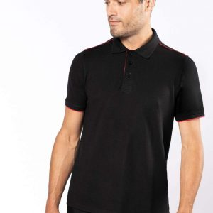 Kariban MEN'S SHORT-SLEEVED CONTRASTING DAYTODAY POLO SHIRT Galléros pólók