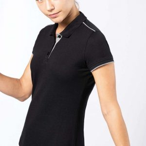Kariban LADIES' SHORT-SLEEVED CONTRASTING DAYTODAY POLO SHIRT Galléros pólók