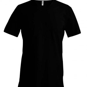 Black Kariban MEN'S SHORT SLEEVE V-NECK T-SHIRT Pólók/T-Shirt