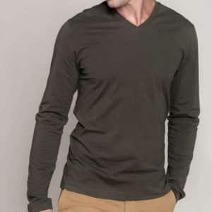 Kariban MEN'S LONG SLEEVE V-NECK T-SHIRT Pólók/T-Shirt