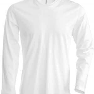 White Kariban MEN'S LONG SLEEVE CREW NECK T-SHIRT Pólók/T-Shirt