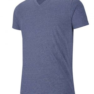 Blue Heather Kariban MEN'S V-NECK SHORT-SLEEVED MELANGE T-SHIRT Pólók/T-Shirt