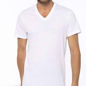 Kariban MEN'S SHORT-SLEEVED V-NECK T-SHIRT Pólók/T-Shirt